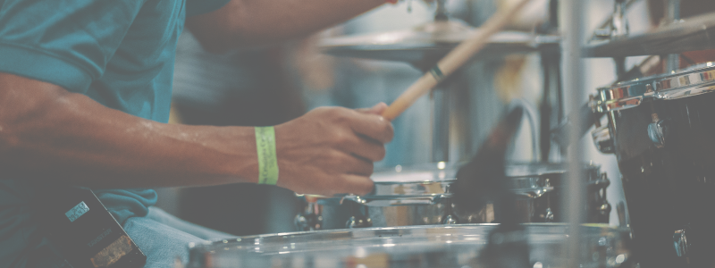 drum lessons will have you playing with confidence.